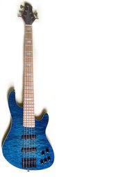"5 String, Blue, ""Shuker"" Jazz Bass"
